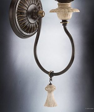 Luxury French Country Wall Sconce Small Size 1725H X 6W With Art Nouveau Style Elements Ancient Bronze Finish UHP2104 From The Alicante Collection By Urban Ambiance 0 3 300x360