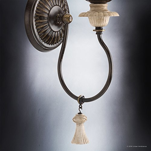 Luxury French Country Wall Sconce Small Size 1725H X 6W With Art Nouveau Style Elements Ancient Bronze Finish UHP2104 From The Alicante Collection By Urban Ambiance 0 3
