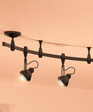 Luxury Modern Track Light 115H X 108L With Industrial Style Elements Estate Bronze Finish UQL3010 From The Perth Collection By Urban Ambiance 0 300x360