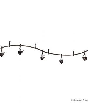 Luxury Modern Track Light 115H X 108L With Industrial Style Elements Estate Bronze Finish UQL3010 From The Perth Collection By Urban Ambiance 0 5 300x360