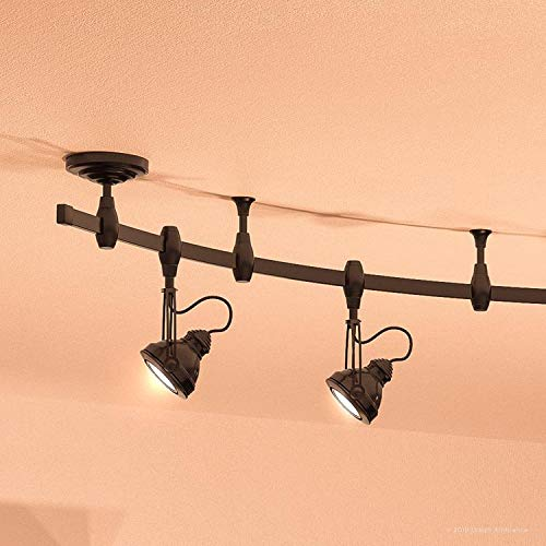 Luxury Modern Track Light 115H X 108L With Industrial Style Elements Estate Bronze Finish UQL3010 From The Perth Collection By Urban Ambiance 0