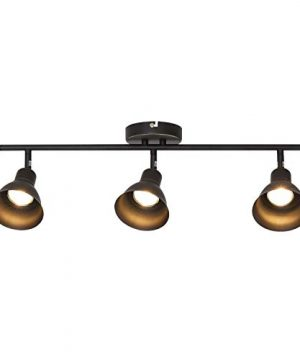 MELUCEE Ceiling Track Lighting With 3 Light Adjustable Track Heads Oil Rubbed Bronze Spotlights Kitchen Track Lighting Fixtures Ceiling 35W GU10 Base Halogen Bulbs Included 0 300x360
