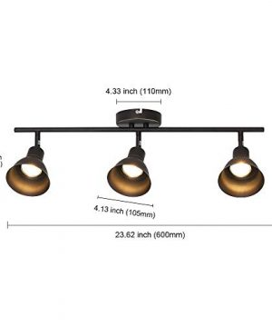 MELUCEE Ceiling Track Lighting With 3 Light Adjustable Track Heads Oil Rubbed Bronze Spotlights Kitchen Track Lighting Fixtures Ceiling 35W GU10 Base Halogen Bulbs Included 0 4 300x360