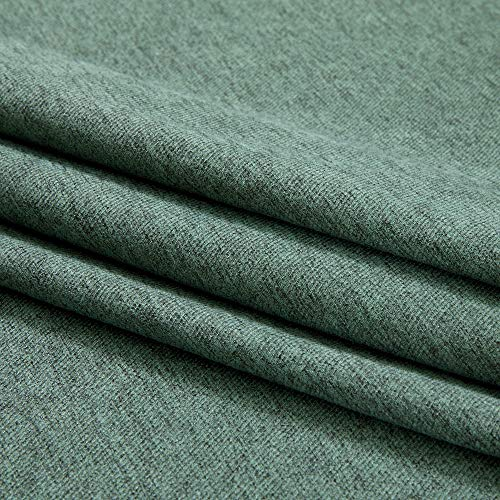 MIULEE Thermal Linen Curtain For Living Room Darkening Farmhouse Grommet Textured Window Blackout Drape Light Block Out For Bedroom 1 Panel W 52 X L 72 Inches Dark Green 0 0