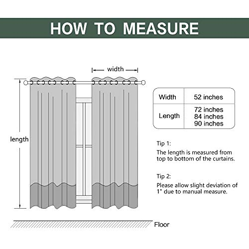 MIULEE Thermal Linen Curtain For Living Room Darkening Farmhouse Grommet Textured Window Blackout Drape Light Block Out For Bedroom 1 Panel W 52 X L 72 Inches Dark Green 0 4