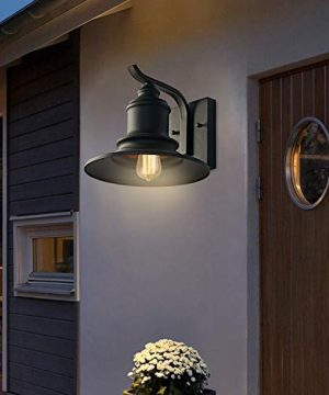 MOTINI 1Light Outdoor Wall Sconce Barn Light Fixture Farmhouse Vintage Style Wall Light With Black FinishETL Listed 0 0 300x360