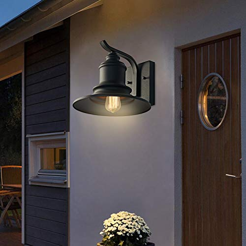 MOTINI 1Light Outdoor Wall Sconce Barn Light Fixture Farmhouse Vintage Style Wall Light With Black FinishETL Listed 0 0