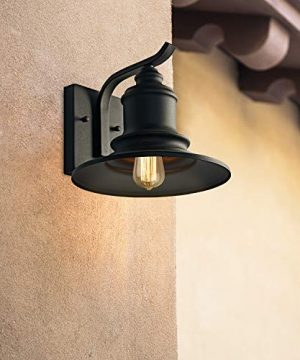 MOTINI 1Light Outdoor Wall Sconce Barn Light Fixture Farmhouse Vintage Style Wall Light With Black FinishETL Listed 0 1 300x360
