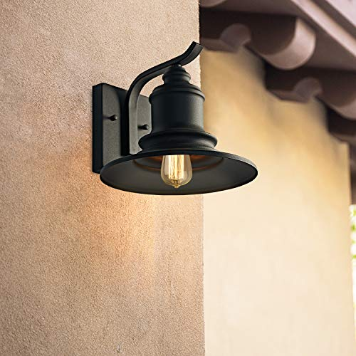 MOTINI 1Light Outdoor Wall Sconce Barn Light Fixture Farmhouse Vintage Style Wall Light With Black FinishETL Listed 0 1