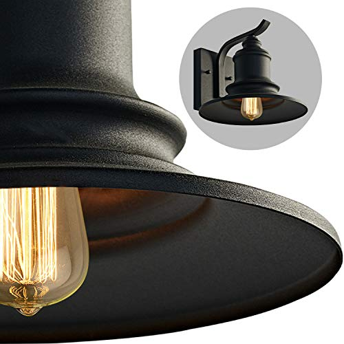 MOTINI 1Light Outdoor Wall Sconce Barn Light Fixture Farmhouse Vintage Style Wall Light With Black FinishETL Listed 0 2