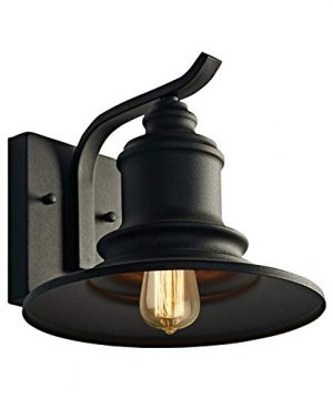 MOTINI 1Light Outdoor Wall Sconce Barn Light Fixture Farmhouse Vintage Style Wall Light With Black FinishETL Listed 0 300x360