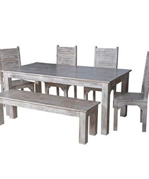 Maadze 6 Piece White Dining Table Set 0 0 300x360