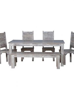 Maadze 6 Piece White Dining Table Set 0 300x360