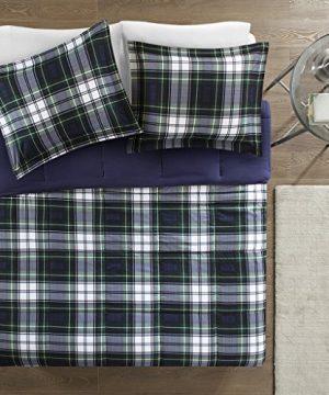 Madison Park Essentials Parkston Down Alternative Comforter Mini Set Twin Twin X Large Navy 0 1 300x360