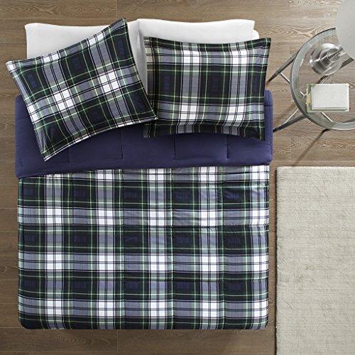 Madison Park Essentials Parkston Down Alternative Comforter Mini Set Twin Twin X Large Navy 0 1