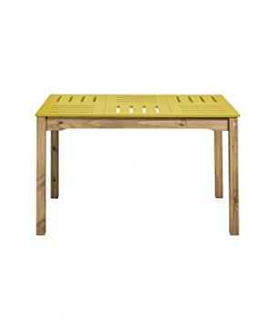 Manhattan Comfort Stillwell Dining Table Yellow 0 0 300x360