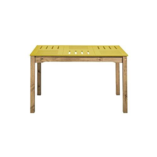 Manhattan Comfort Stillwell Dining Table Yellow 0 0