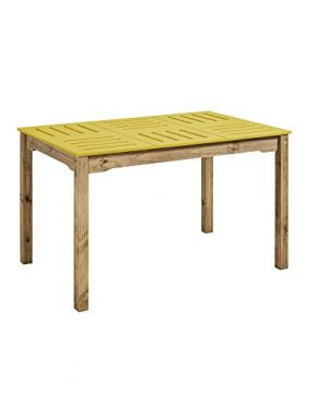 Manhattan Comfort Stillwell Dining Table Yellow 0 300x360