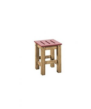 Manhattan Comfort Stillwell Modern Rustic Pine Wood Rectangle Dining Table And Chair Set Red 0 3 300x360
