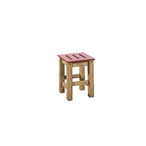 Manhattan Comfort Stillwell Modern Rustic Pine Wood Rectangle Dining Table And Chair Set Red 0 3