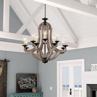 Marcoux+12-Light+Candle+Style+Empire+Chandelier