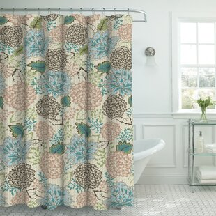 Maxman+Fabric+Weave+Textured+Floral+Shower+Curtain+Set