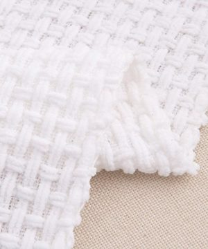 Melody House Super Soft Woven Plaid Pattern Throw Decorative Throw Blanket With Tassels 50x60 Bright White 0 5 300x360