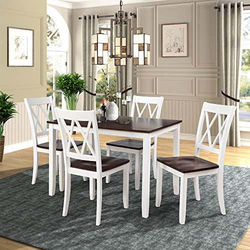 white wood kitchen table and chairs