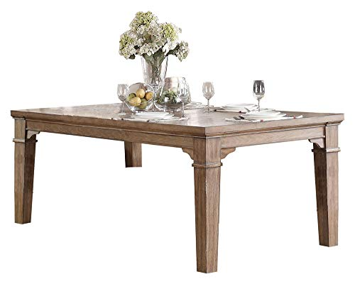 Michlim Rustic Industrial 7PC Dining Set Table 6 Chair In Weathered Grey 0 1