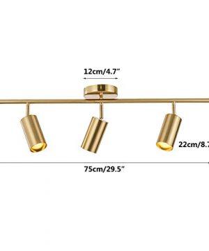 Modo Lighting Adjustable Track Lighting 3 Lights Brushed Brass Flush Mount Ceiling Light Fixture For Kitchen Dining Room 0 0 300x360