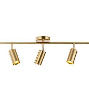 Modo Lighting Adjustable Track Lighting 3 Lights Brushed Brass Flush Mount Ceiling Light Fixture For Kitchen Dining Room 0 300x360