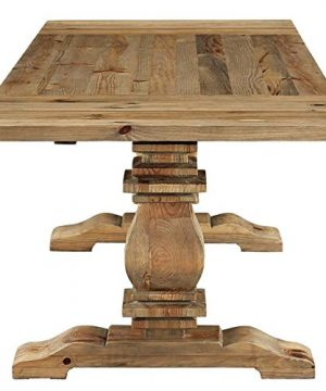 Modway Rise 73 To 103 Rustic Farmhouse Trestle Extendable Wood Kitchen And Dining Table In Brown 0 1 300x360