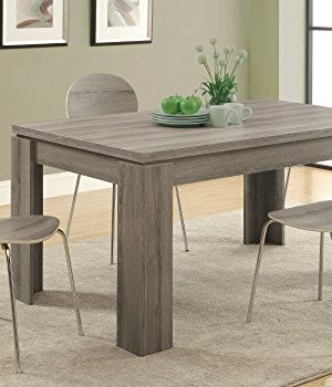Monarch Specialties Dining Table Dark Taupe Reclaimed Look 60L 0 0 300x350