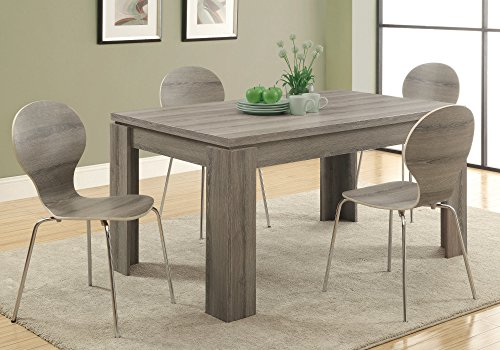 Monarch Specialties Dining Table Dark Taupe Reclaimed Look 60L 0 0