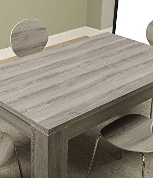Monarch Specialties Dining Table Dark Taupe Reclaimed Look 60L 0 1 300x350