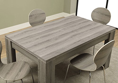 Monarch Specialties Dining Table Dark Taupe Reclaimed Look 60L 0 1