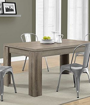 Monarch Specialties Dining Table Dark Taupe Reclaimed Look 60L 0 2 300x350