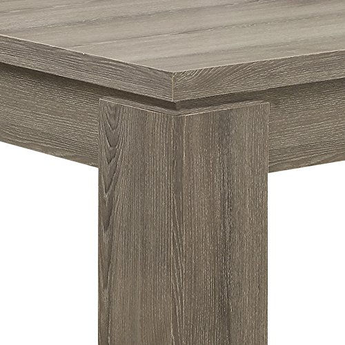 Monarch Specialties Dining Table Dark Taupe Reclaimed Look 60L 0 3