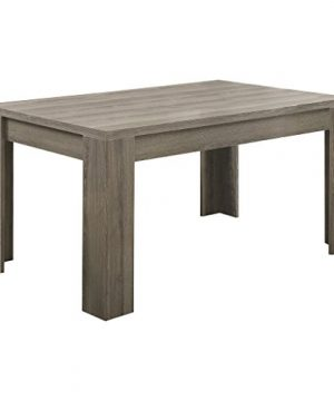 Monarch Specialties Dining Table Dark Taupe Reclaimed Look 60L 0 300x360