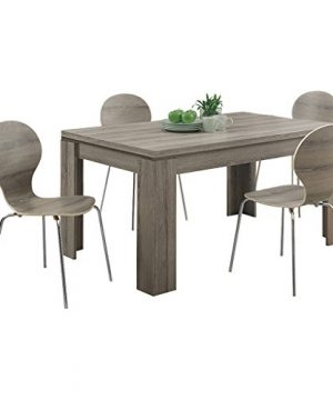 Monarch Specialties Dining Table Dark Taupe Reclaimed Look 60L 0 4 300x360