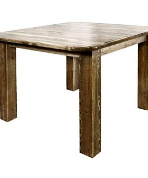 Montana Woodworks Homestead Collection 4 Post Dining Table Square Stain And Lacquer Finish 0 300x360
