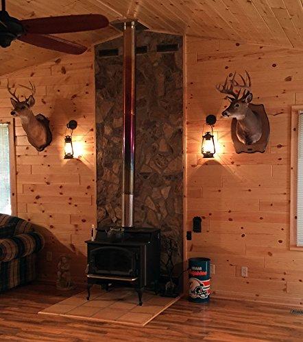 Muskoka Lifestyle Products Rustic Lantern Wall Mounted Light Large Rustic 0 3