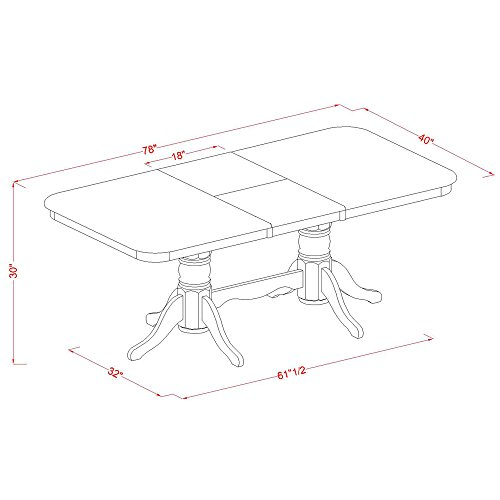 NANA9 SBR C 9 Pc Dining Room Set Rectangular Table With Leaf And 8 Kitchen Dining Chairs 0 0