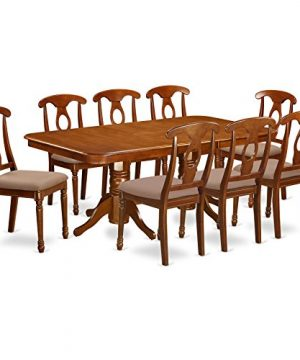 NANA9 SBR C 9 Pc Dining Room Set Rectangular Table With Leaf And 8 Kitchen Dining Chairs 0 300x360