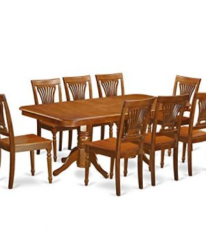 NAPL9 SBR W 9 Pcformal Dining Room Set Dining Table And 8 Dining Chairs 0 300x360