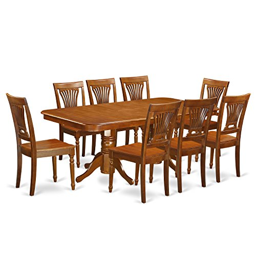 NAPL9 SBR W 9 Pcformal Dining Room Set Dining Table And 8 Dining Chairs 0