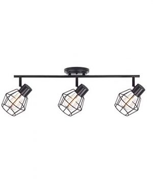 NOMA Track Lighting Adjustable Ceiling Light Fixture Perfect For Kitchen Hallway Dining Room Bedroom And Bathroom Oil Rubbed Bronze 3 Light 0 300x360