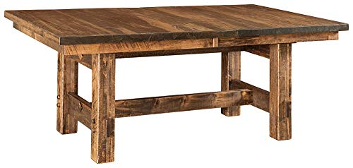 New Hickory Wholesale Amish Houston 7 Pc Solid Rough Sawn Wood Dining Table Set Stained Almond 0 0