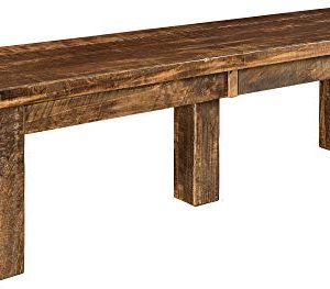 New Hickory Wholesale Amish Houston 7 Pc Solid Rough Sawn Wood Dining Table Set Stained Almond 0 2 300x263