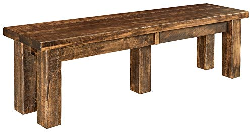 New Hickory Wholesale Amish Houston 7 Pc Solid Rough Sawn Wood Dining Table Set Stained Almond 0 2